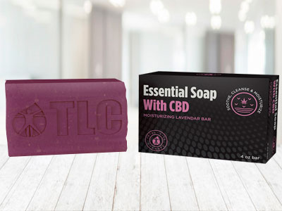 essential soap with cbd